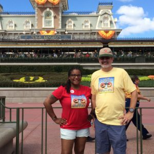 Jaime and Glenn Outside of Disney's Magic Kingdom on Their First Adventure